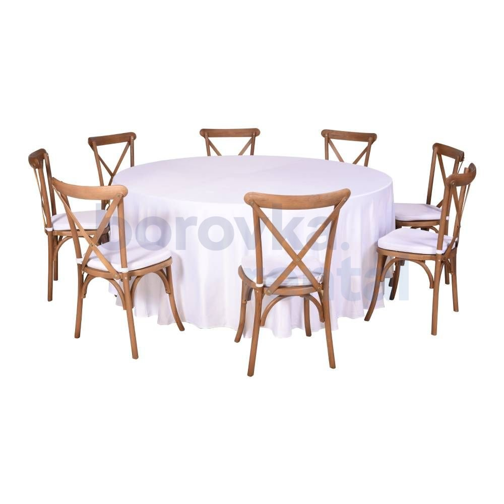 Catering Set für 8 Personen Cross Back Stuhl